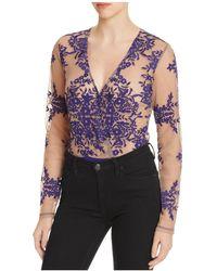 Bardot Camellia Lace Bodysuit - 100% Exclusive - Blue