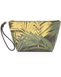 Pink Pony - Lauren Amberly Palm Cosmetic Wristlet - Lyst