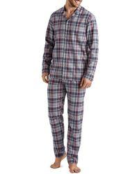 Hanro - Thilo Plaid Pajama Set - Lyst