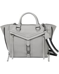 Botkier Trigger Leather Satchel - Gray