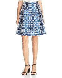Finity | Floral Jacquard A-line Skirt | Lyst