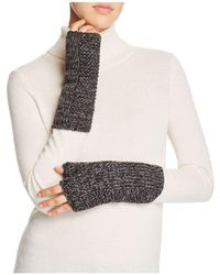 Aqua - Marl Metallic Armwarmer Gloves - Lyst