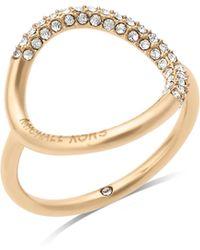 Michael Kors - Open Circle Ring - Lyst