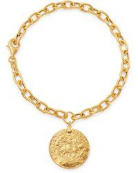 Bloomingdale's Coin Drop Chain Bracelet In 14k Yellow Gold - Metallic