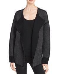 Magaschoni Reversible Cashmere Sweater Coat - Black