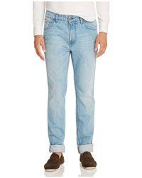 Eidos - Five Pocket Slim Fit Jeans In Light Wash - Lyst