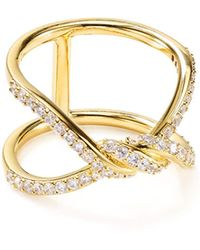 Nadri - Pavé Knotted Ring - Lyst