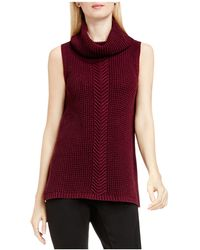 Two By Vince Camuto - Two By Vince Camtuo Cable Knit Sleeveless Jumper - Lyst