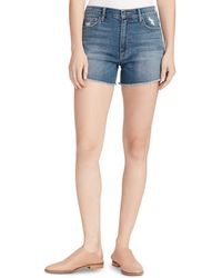 Ella Moss Vintage High - Rise Shorts In Chesnut - Blue