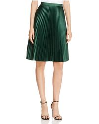 Scotch & Soda Pleated A-line Skirt - Green