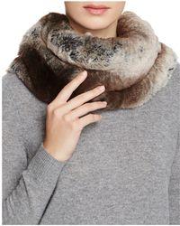 Badgley Mischka Faux Fur Neck Warmer - Grey