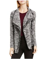 Two By Vince Camuto - Vince Camuto Marled Drape Collar Jacket - Lyst