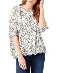 Phase Eight - Cecily Floral Jacquard Top - Lyst
