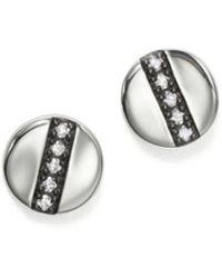 Ippolita - Sterling Silver Glamazon® Stardust Station Stud Earrings With Diamonds - Lyst
