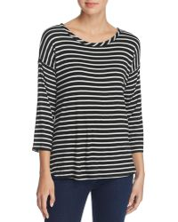 Kim & Cami Lace-up Back Striped Top - 100% Bloomingdale's Exclusive - Black