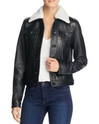 Linea Pelle - Leather Bomber Jacket - Lyst