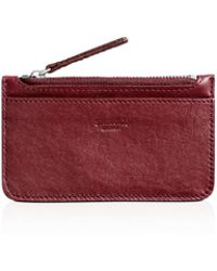 Shinola Coin Case - Red