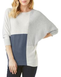 Phase Eight - Color Block Becca Batwing Sweater - Lyst
