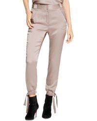 Halston - Satin Tie - Detail Pants - Lyst