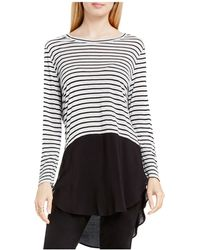 Two By Vince Camuto - Curb Stripe Crewneck Tunic - Lyst
