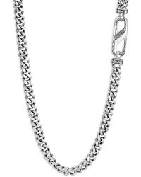 John Hardy Sterling Silver Classic Chain Carabiner Curb Link Necklace - Metallic