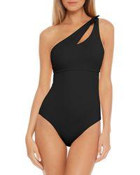 Becca Colour Code Asymmetrical One Piece Swimsuit - Black
