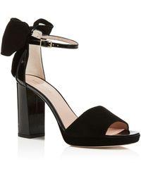 Kate Spade Halle Open Toe Platform Sandals - Black