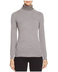 Lush - Embellished Turtleneck Sweater - Compare At $82 - Lyst