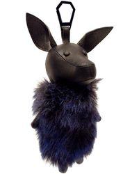 Kendall + Kylie Norman Faux-fur Bag Charm - Blue