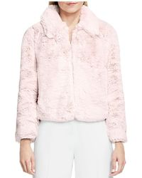 Vince Camuto - Faux Fur Bomber Jacket - Lyst