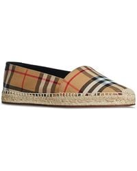 Burberry - Women's Hodgeson House Check Espadrille Flats - Lyst