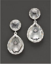 Ippolita - Sterling Silver Rock Candy Snowman Drop Earrings In Clear Quartz - Lyst