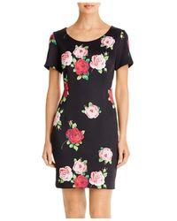 Betsey Johnson Floating Roses Scuba Dress - Black