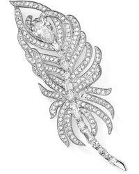 Nadri Feather Pin - Metallic