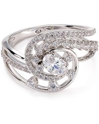Nadri - Pavé Swirl Ring - Lyst