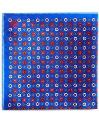 Canali - Square & Circle Medallion Pocket Square - Lyst