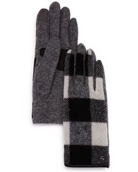 Echo - Buffalo Plaid Tech Gloves - Lyst