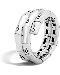 John Hardy - Sterling Silver Bamboo Double Coil Ring - Lyst