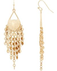 Catherine Malandrino - Disc Chain Fringe Drop Earrings - Compare At $36 - Lyst