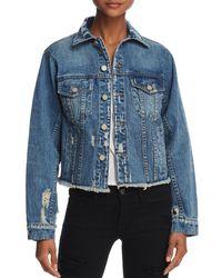 Pam & Gela - Distressed Denim Jacket - Lyst