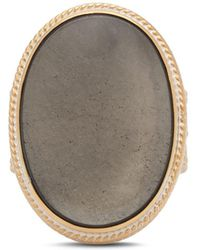 Anna Beck - Smoky Pyrite Cocktail Ring In 18k Gold-plated Sterling Silver - Lyst