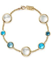 Ippolita - 18k Yellow Gold Lollipop 7-stone Chain Bracelet In Raindrop - Lyst