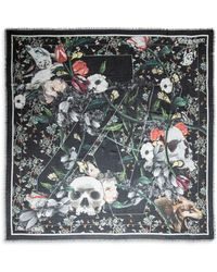 Zadig & Voltaire Kerry Skull & Flower Stole - Black