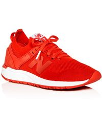 New Balance - Women's Deconstructed 247 Knit Lace Up Sneakers - Lyst