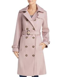 Calvin Klein - Double - Breasted Button Front Trench Coat - Lyst