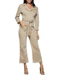 GOOD AMERICAN Belted Utility Jumpsuit - Natural