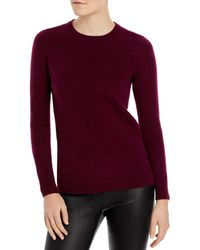 C By Bloomingdale's Crewneck Cashmere Sweater - Purple