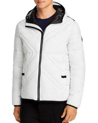 Karl Lagerfeld X - Quilted Packable Puffer Jacket - White