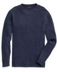 Vineyard Vines Island Garment Dyed Crewneck Long Sleeve Tee - Blue