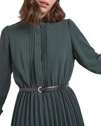 Gerard Darel Thea Pleated Dress - Green